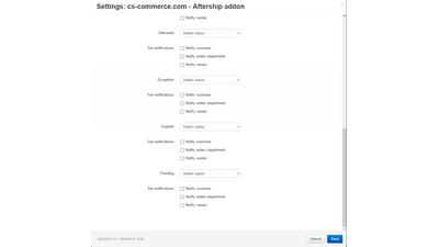 Модуль aftership для автоматической смены статуса заказа для CS-Cart