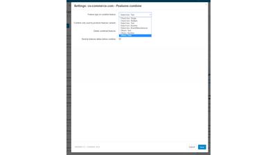 Объединение характеристик товаров в одну - модуль для CS-Cart